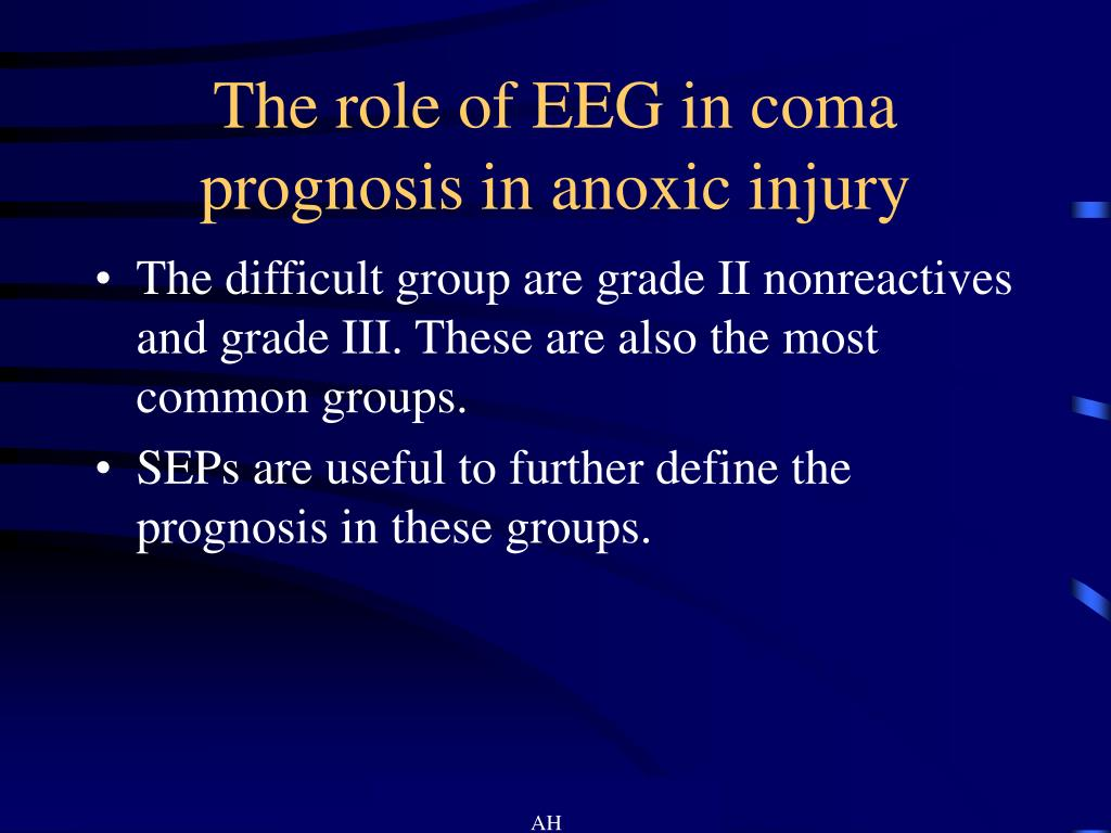 The role of EEG in coma prognosis in anoxic injury