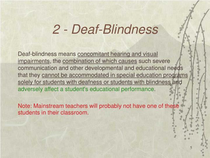 2 - Deaf-Blindness