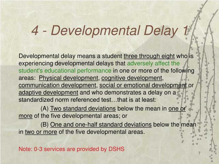 4 - Developmental Delay 1
