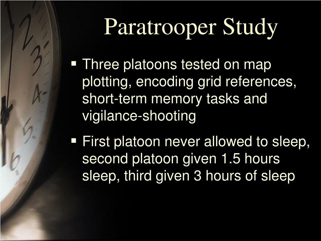 Paratrooper Study