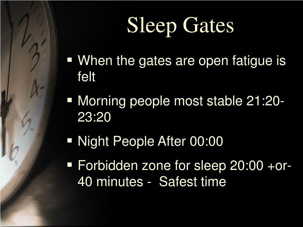 Sleep Gates