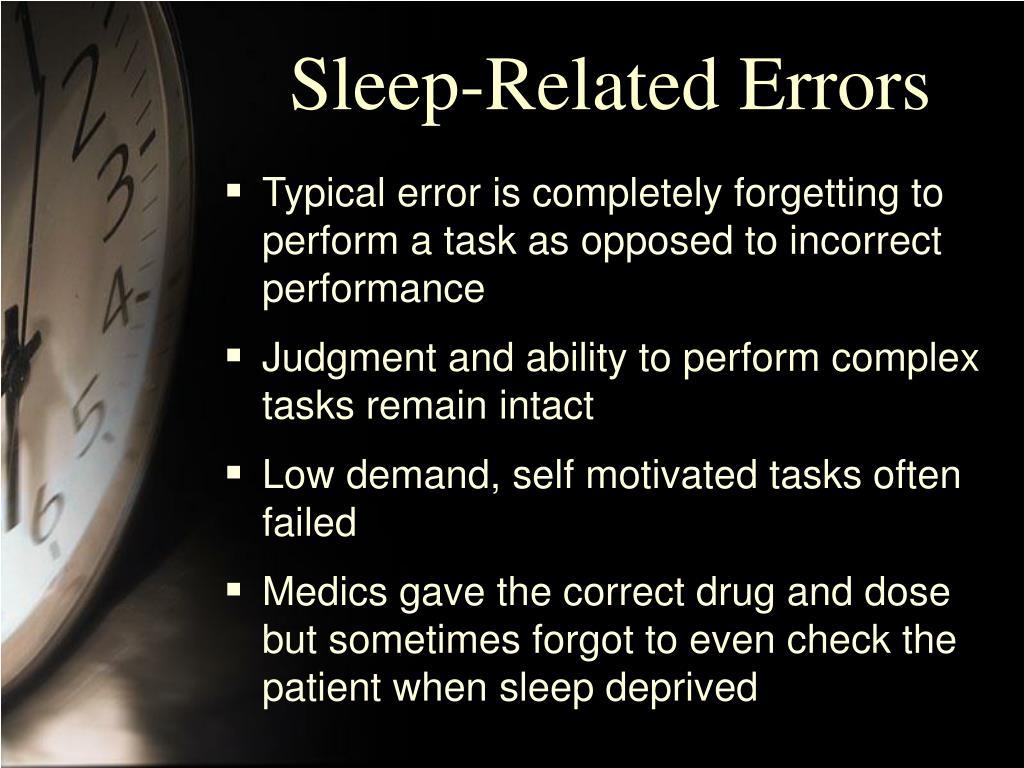Sleep-Related Errors
