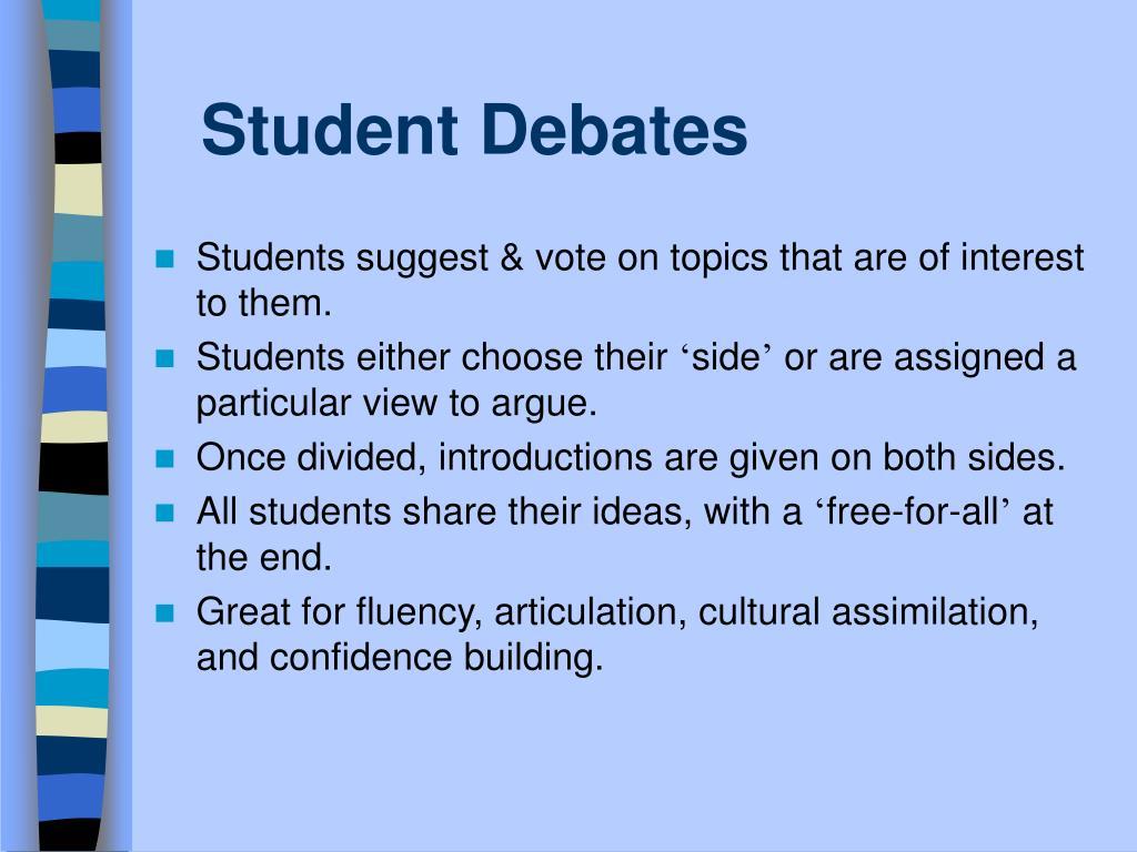 Student Debates