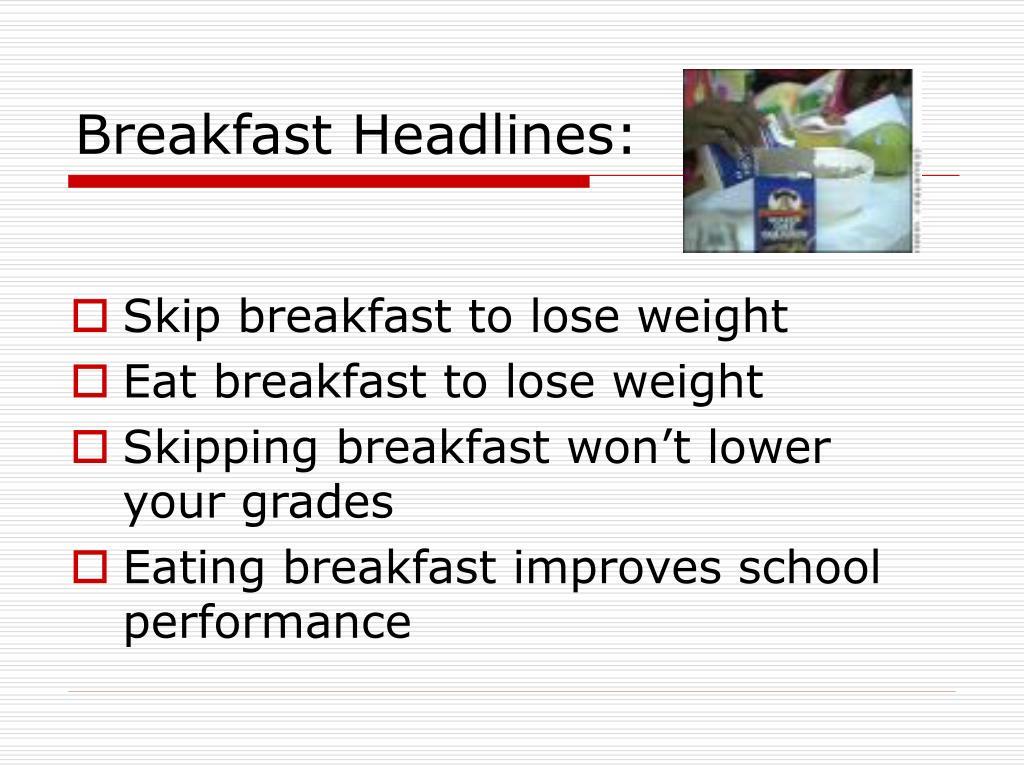Breakfast Headlines: