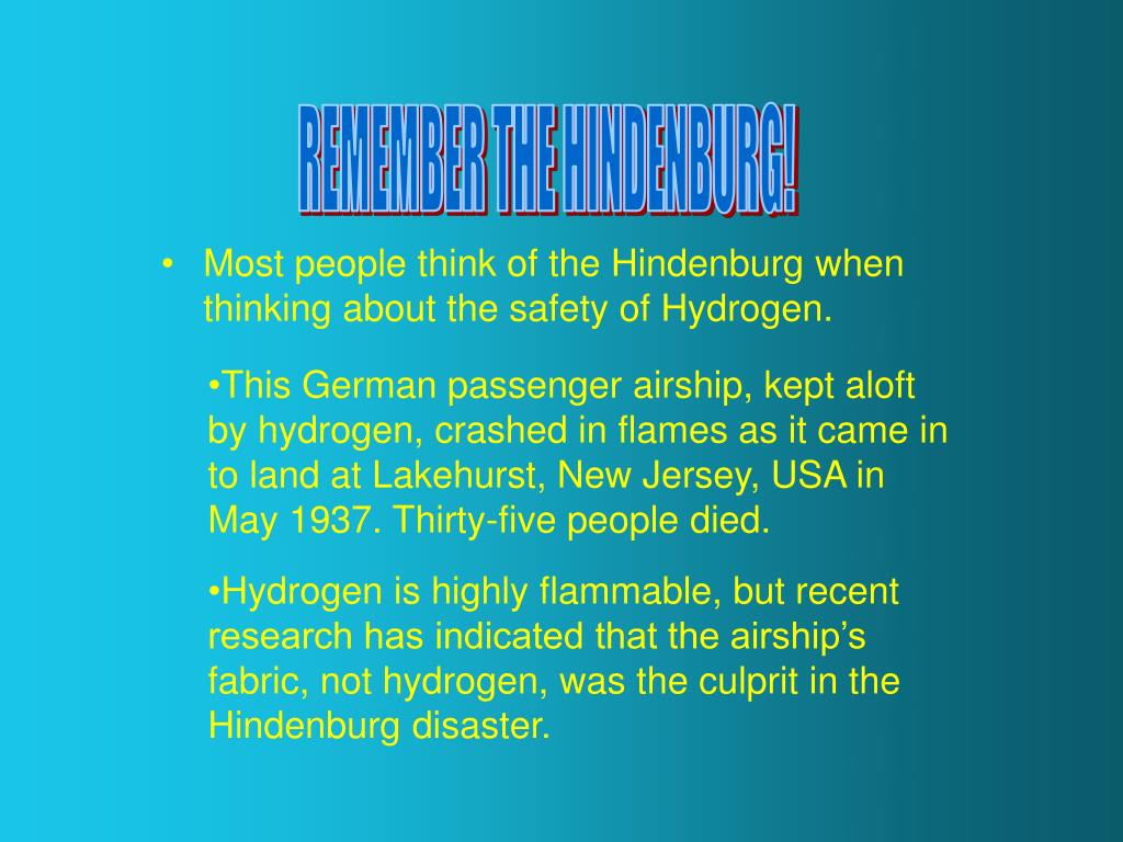 REMEMBER THE HINDENBURG!