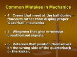 common mistakes in mechanics28
