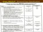 cont rule 7 forward pass classification