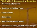 rule 10 enforcement of penalties