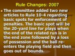rule changes 200770