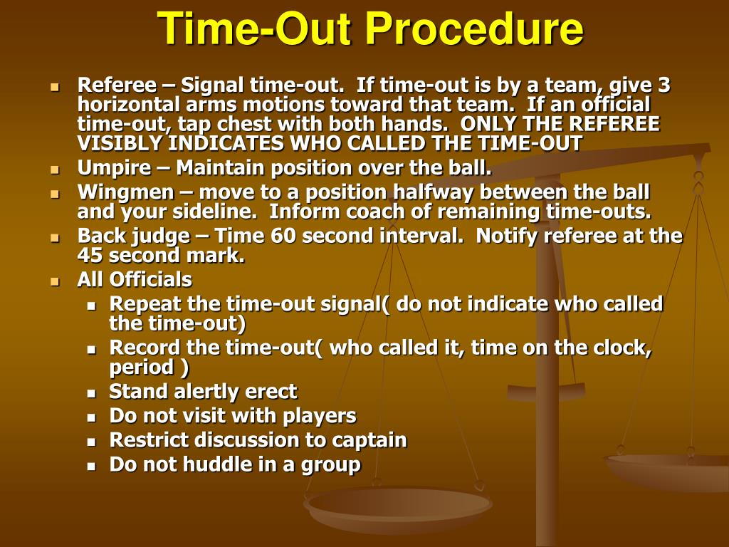 Time-Out Procedure
