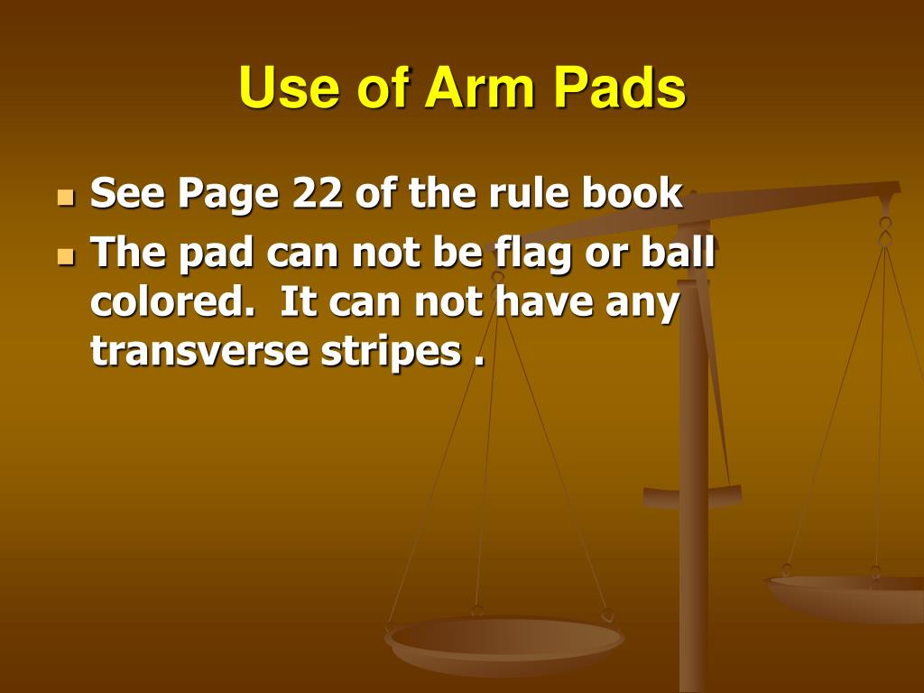 Use of Arm Pads