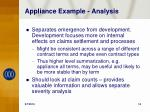 appliance example analysis