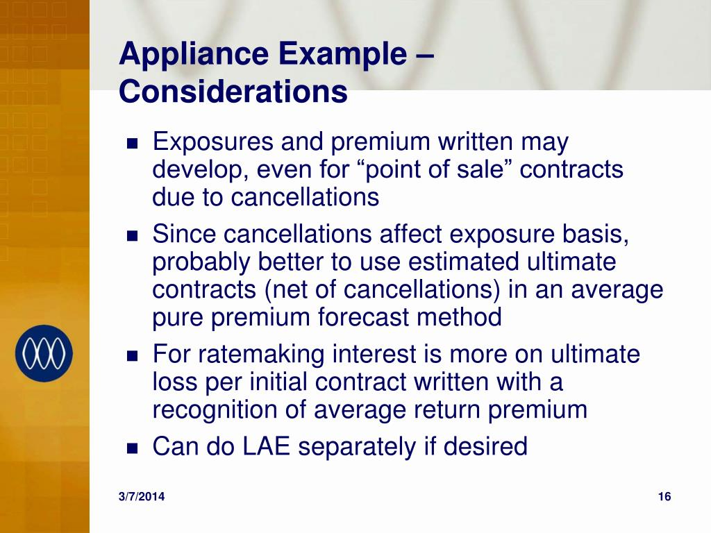 Appliance Example – Considerations