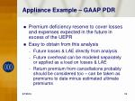 appliance example gaap pdr