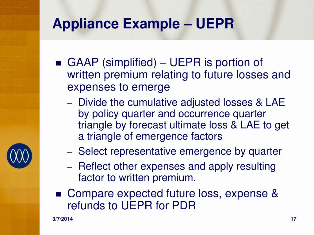 Appliance Example – UEPR