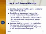 loss lae reserve methods
