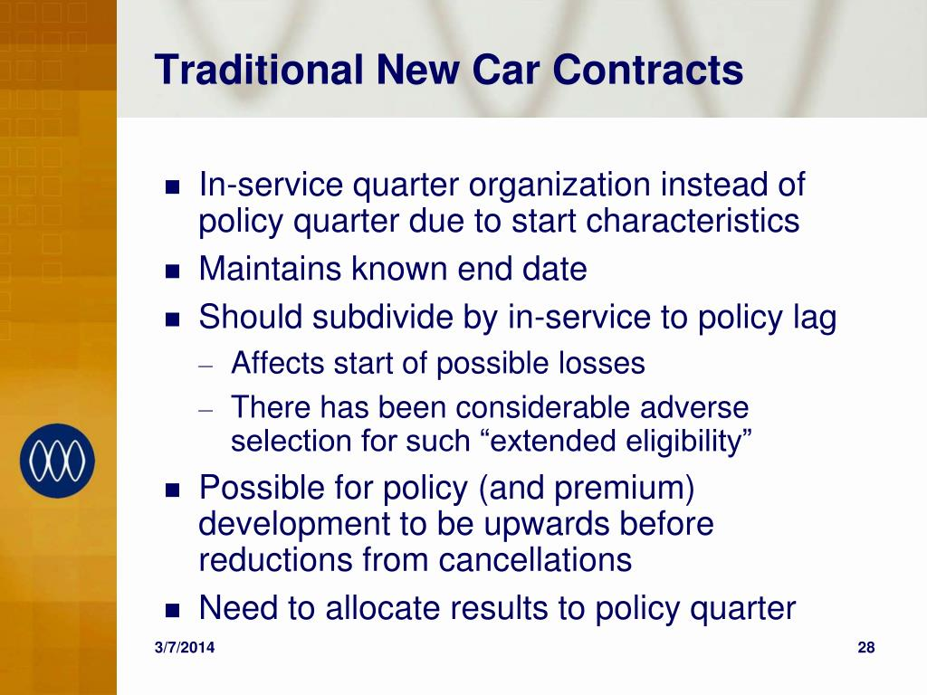 Traditional New Car Contracts
