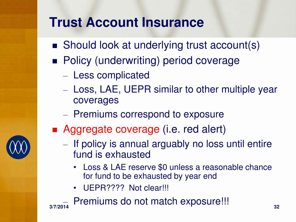Trust Account Insurance