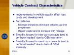 vehicle contract characteristics
