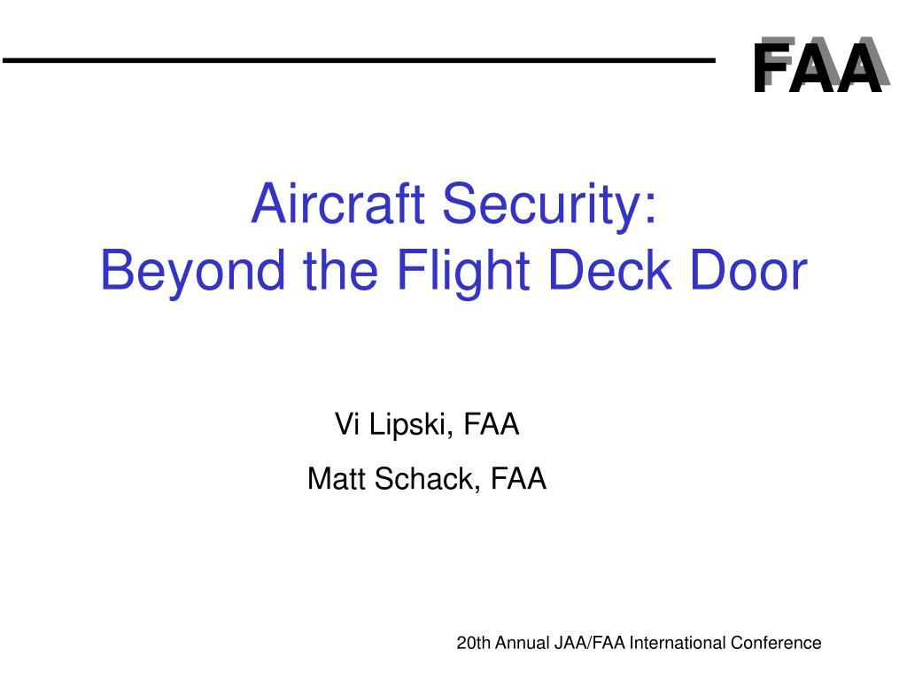Aircraft Security: