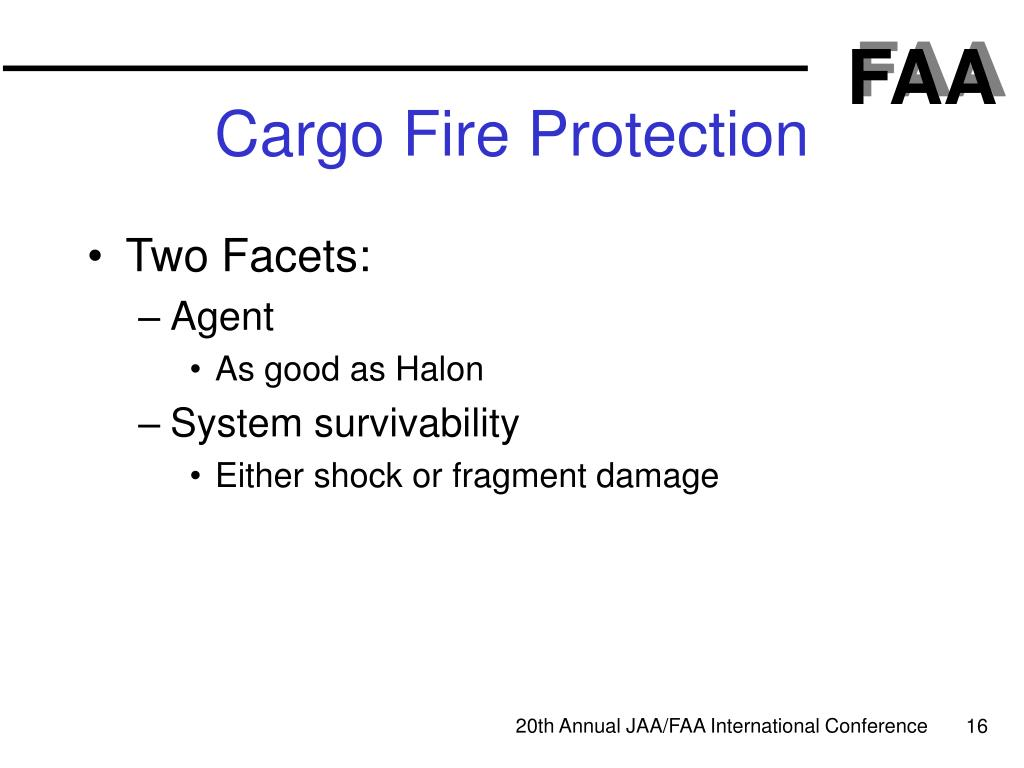 Cargo Fire Protection