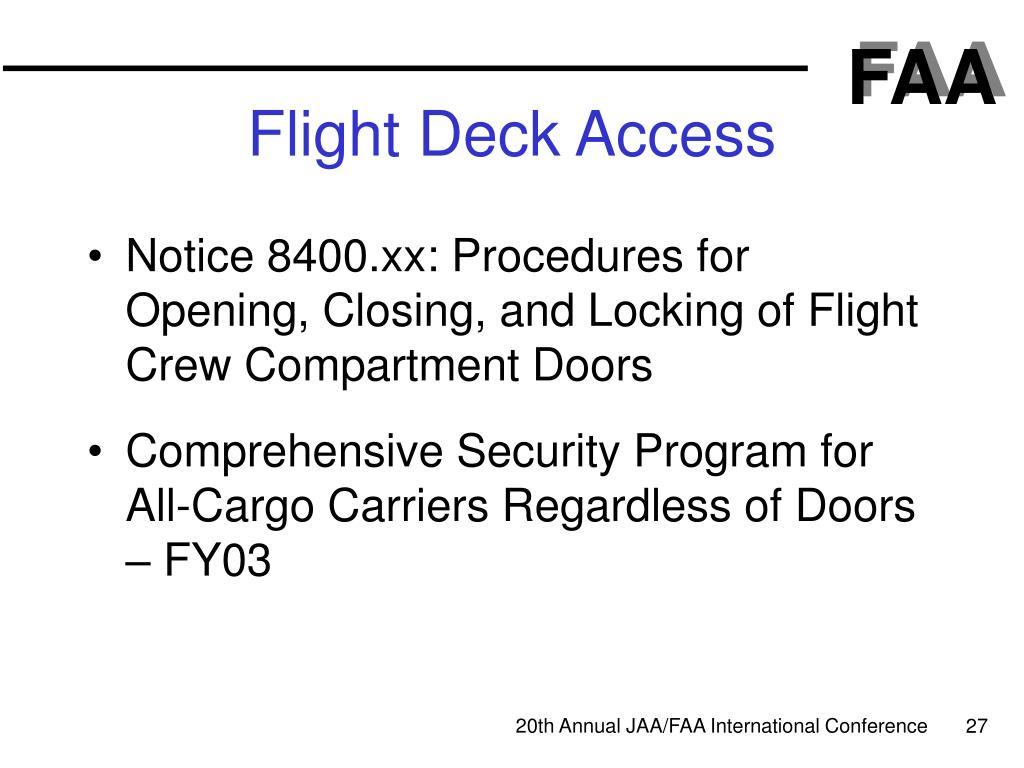 Flight Deck Access