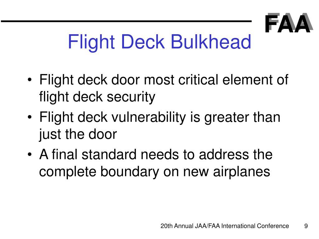 Flight Deck Bulkhead