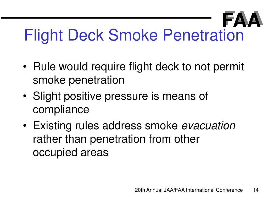 Flight Deck Smoke Penetration