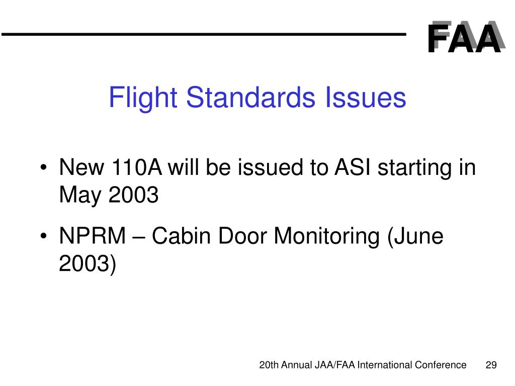 Flight Standards Issues