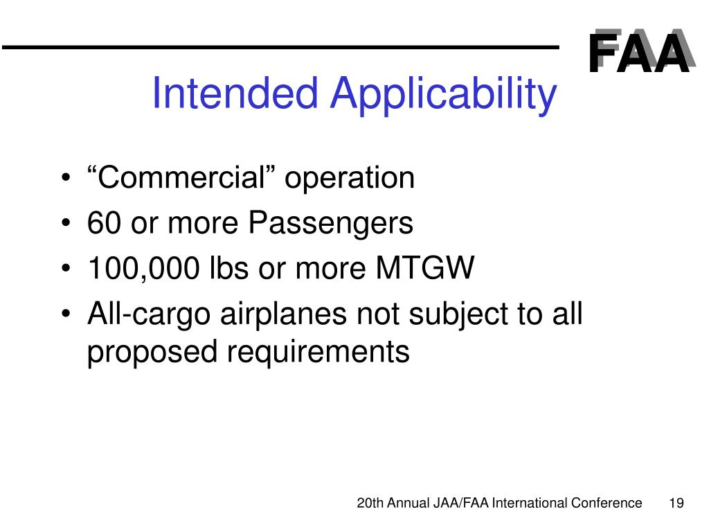 Intended Applicability