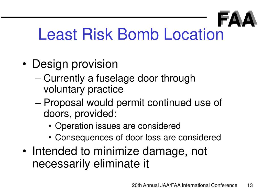 Least Risk Bomb Location