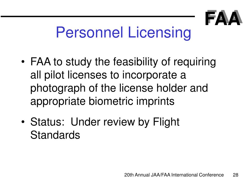 Personnel Licensing