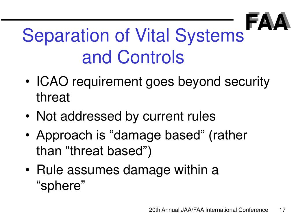 Separation of Vital Systems