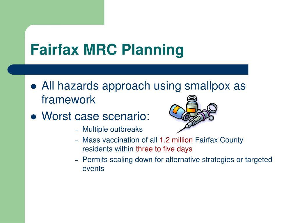 Fairfax MRC Planning