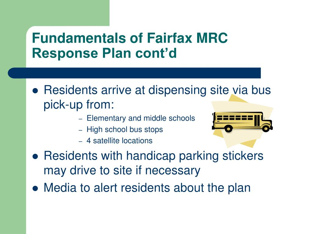 Fundamentals of Fairfax MRC Response Plan cont'd