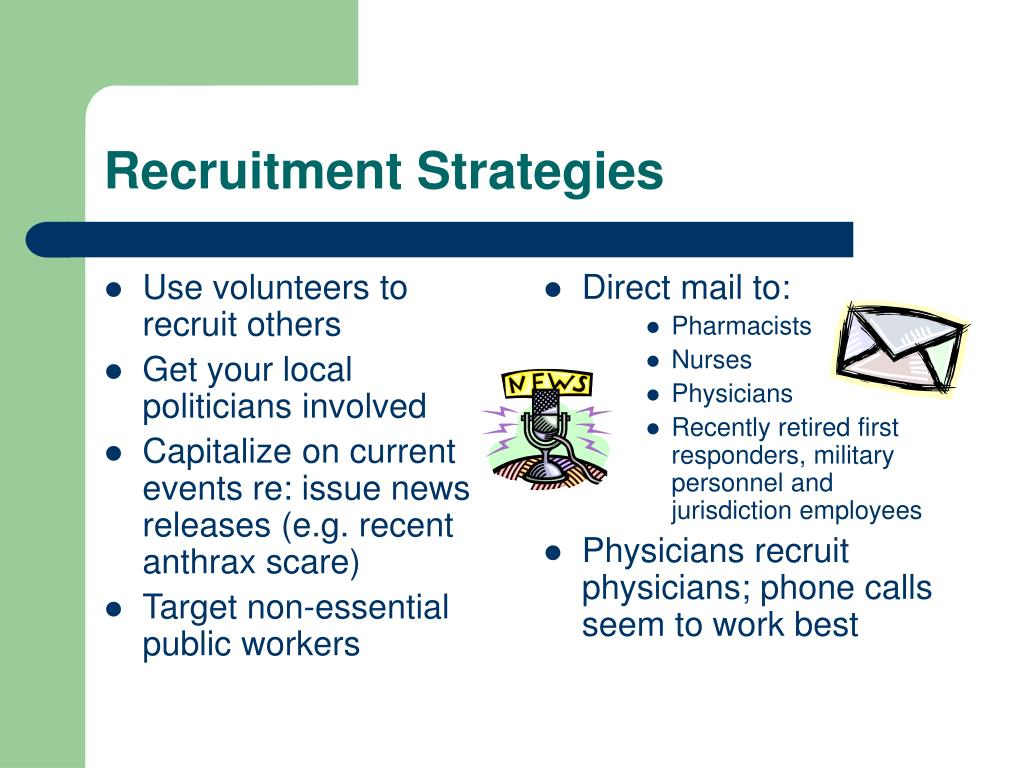 Use volunteers to recruit others