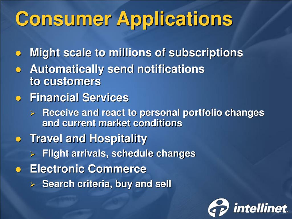 Consumer Applications