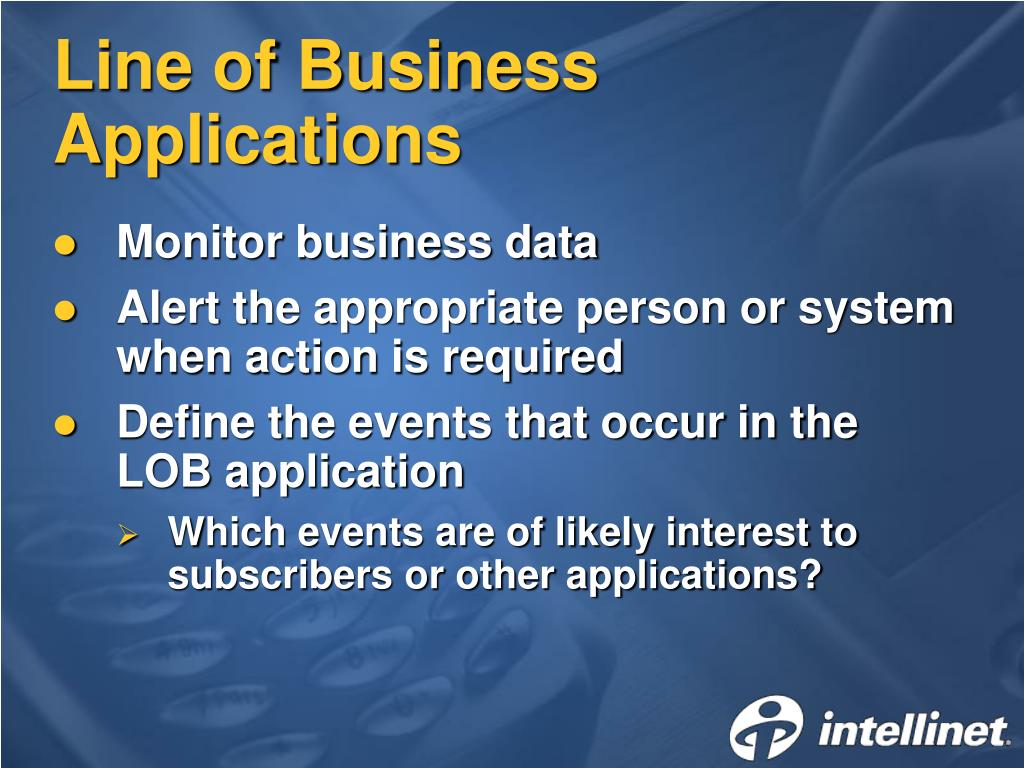 Line of Business Applications