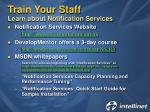 train your staff learn about notification services