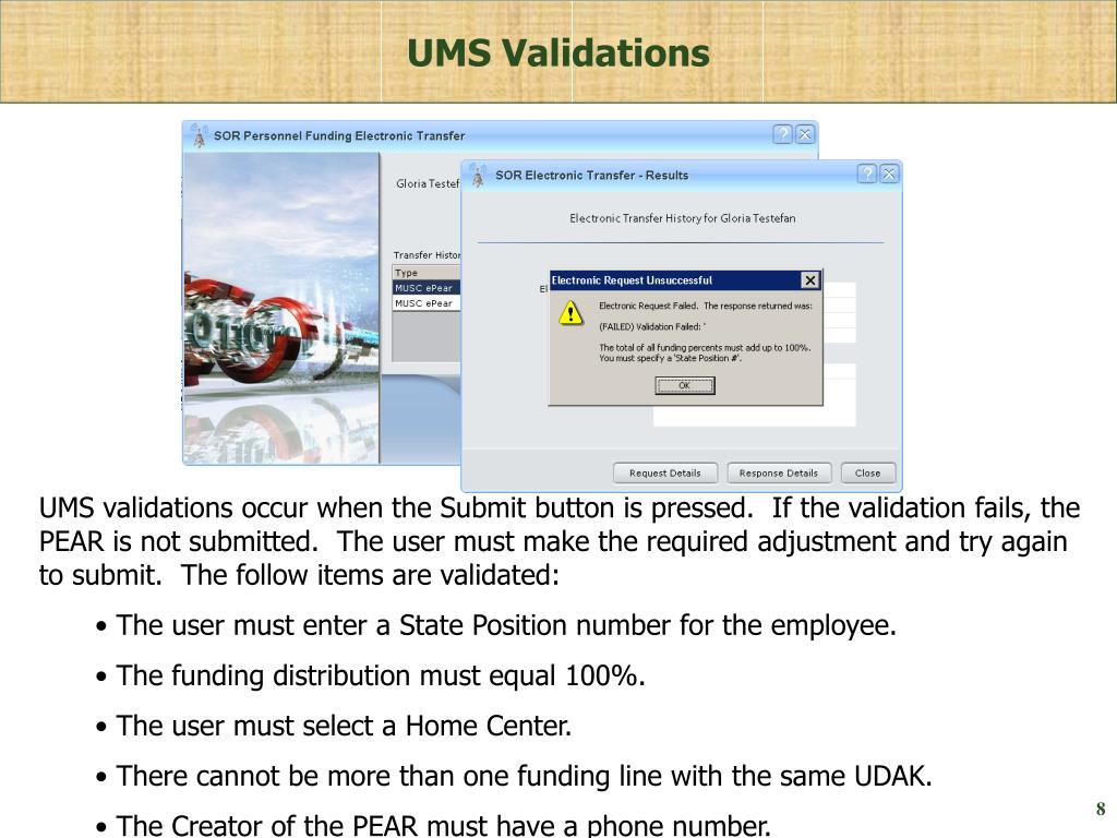 UMS Validations