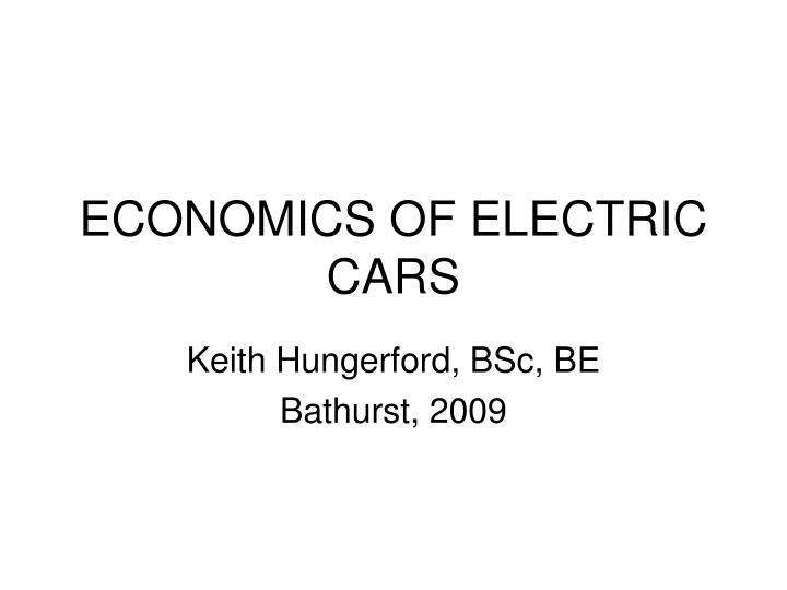 Economics of electric cars