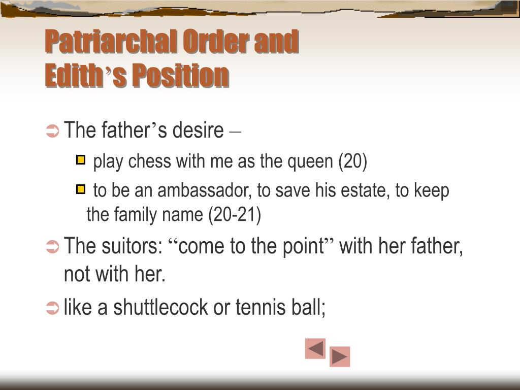 Patriarchal Order and