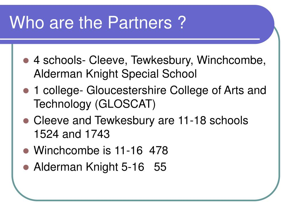 Who are the Partners ?