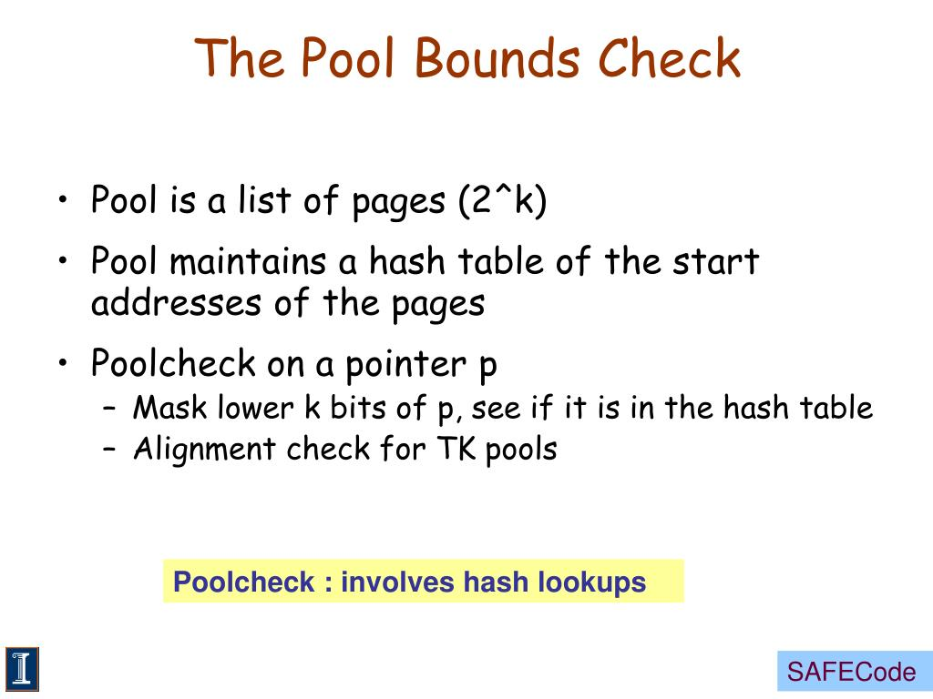The Pool Bounds Check