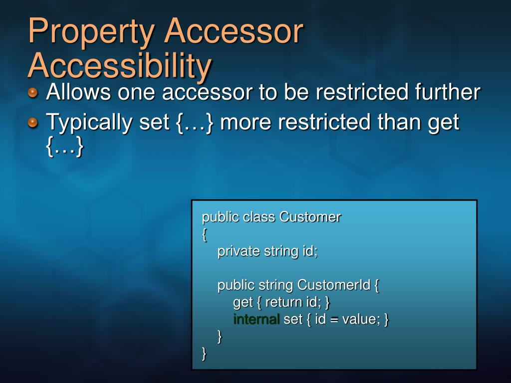 Property Accessor Accessibility