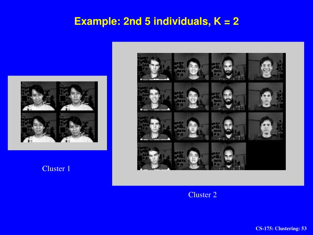 Example: 2nd 5 individuals, K = 2