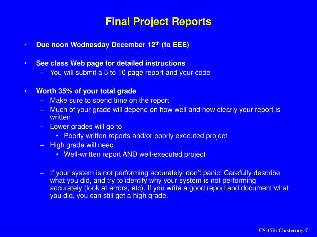 Final Project Reports