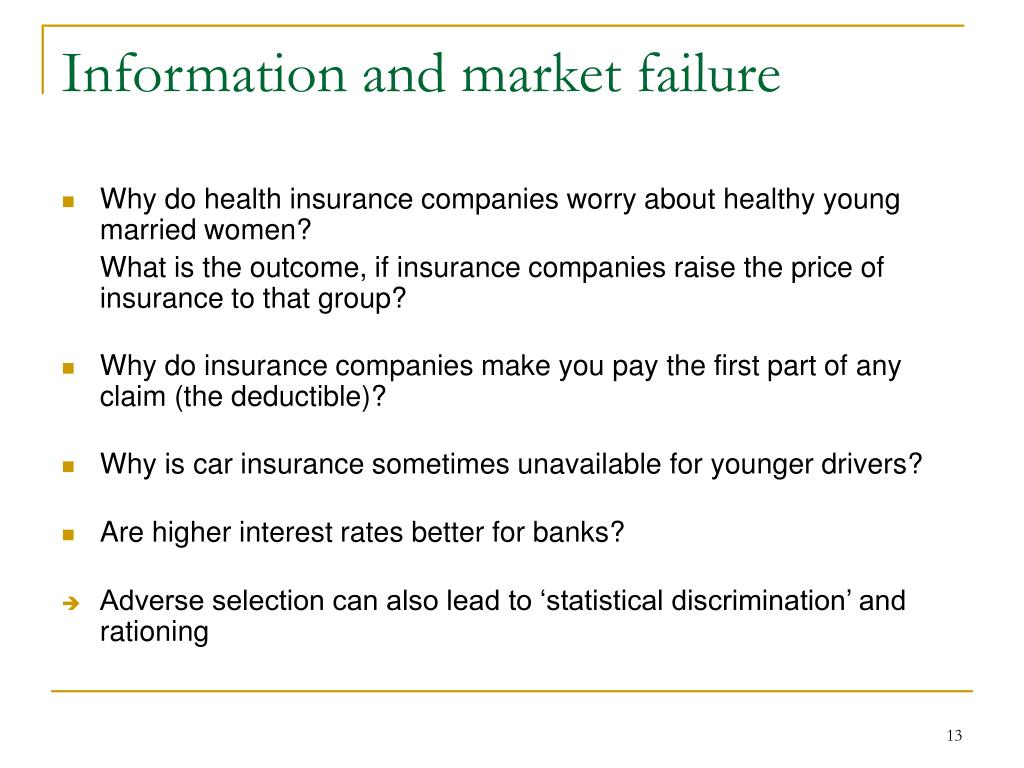 Information and market failure