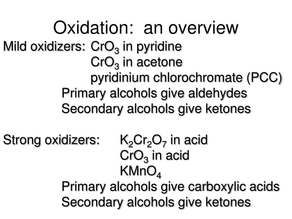 Oxidation:  an overview