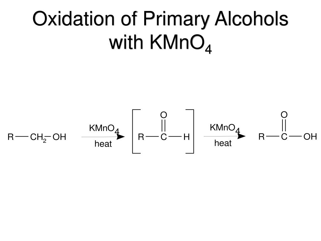Oxidation of Primary Alcohols with KMnO